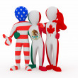 Stock Photo: NAFTA. in color of national flag.