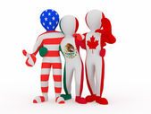 NAFTA. in color of national flag. — Stock Photo