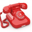Old-fashioned phone on white isolated background - Stock Photo