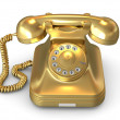 Royalty-Free Stock Photo: Golden phone