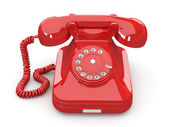 Old-fashioned phone on white isolated background — Stock Photo