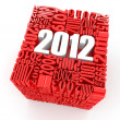 New year 2012. Cube consisting of the numbers - Stock Photo
