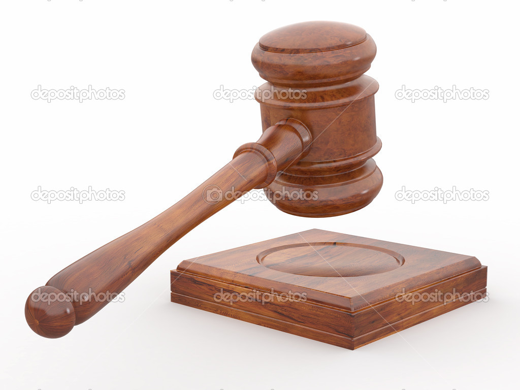 Judge gavel on white isolaed background — Stock Photo ...