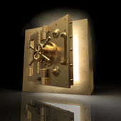Opening vault and volume light. 3d — Stock Photo