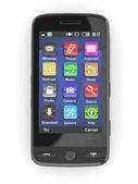 Siyah cep telefonu. 3d — Stok fotoğraf