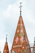 Matthias Church roof (Budapest, Hungary) — Stock Photo