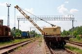 A Rail Track Mounted Crane. — Stock Photo