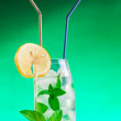 Tall drink with mint and ice — Stock Photo