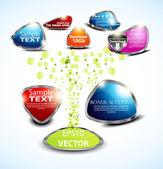 Definir ícone de botão de baixar volume lustroso. vector design — Vetorial Stock