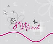 8 maart — Stockvector