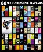 Conjunto de cartões de visita coloridos verticais. vector — Vetorial Stock