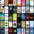Variety of 40 vertical business cards on different topics - Stok Vektr