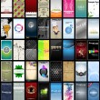 Variety of 40 vertical business cards on different topics - Imagens vectoriais em stock