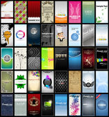 Verscheidenheid van 40 verticale visitekaartjes op verschillende onderwerpen — Stockvector