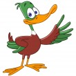Cartoon duck - Stock Vector