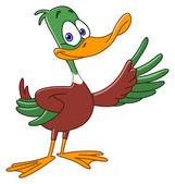 Cartoon duck — Stock Vector