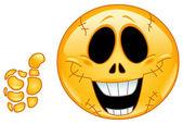Skull emoticon — Stock Vector