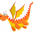 Stock Vector: Flying dragon