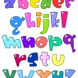 Royalty-Free Stock Vector Image: Cartoon small alphabet