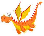 летящий дракон — Cтоковый вектор
