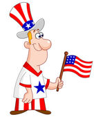 Patriotic man — Vetorial Stock