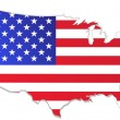 Usa map with flag — Vector de stock