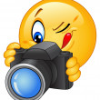 Camera emoticon - Stock Vector