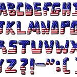 Usa alphabet — Stock Vector