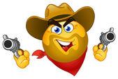Cowboy uttryckssymbol — Stockvektor