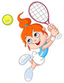 Tennis girl — Stock Vector