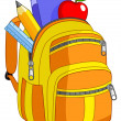School backpack — Stock Vector