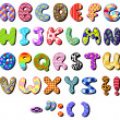 Royalty-Free Stock Vector Image: Patterned alphabet