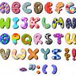 Patterned alphabet — Stock Vector