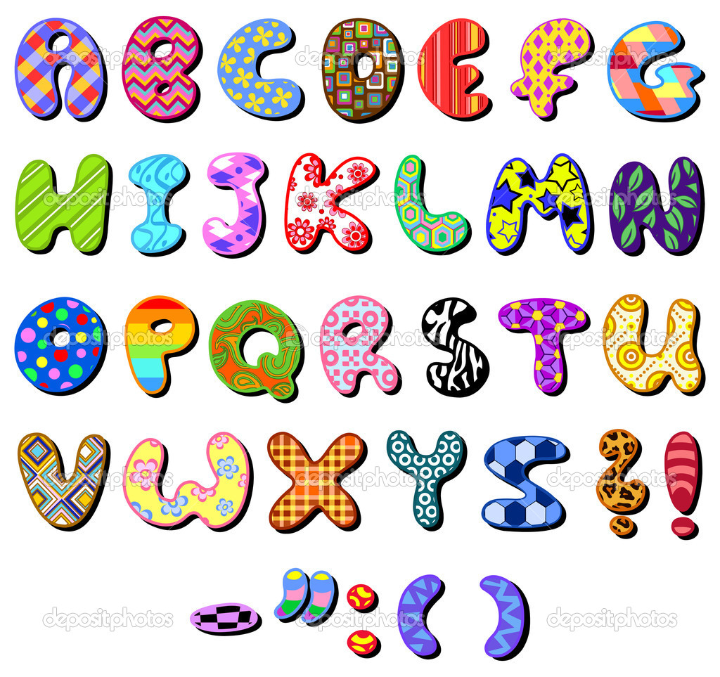 Colorful patterned alphabet set — Stock Vector #6157667