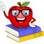 Smart apple — Stock Vector #6218245