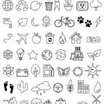 Eco doodle icon set — Stock Vector
