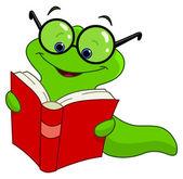 книга червя — Cтоковый вектор
