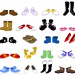 Stock Vector: Cartoon shoes set