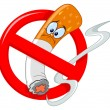 Royalty-Free Stock Vector Image: No smoking cartoon