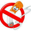 No smoking cartoon - Stock Vector
