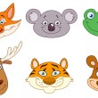 Royalty-Free Stock Vector Image: Animal heads 3
