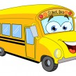 Vector de stock : Cartoon school bus