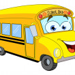 Cartoon school bus — Stock vektor