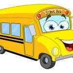 cartone animato scuola bus — Vettoriale Stock