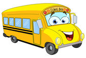Cartoon school bus — Vetor de Stock