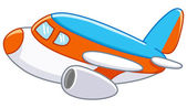 Cartoon plane — Stock Vector