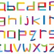 Stock Vector: Colorful lower case alphabet
