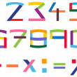 Royalty-Free Stock Vector Image: Colorful number set