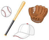 Baseball elements — Stock Vector