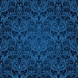 Blue seamless wallpaper pattern — Stok Vektör
